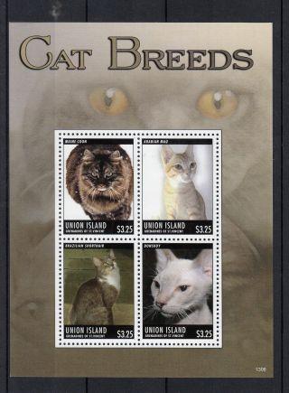 Union Island Grenadines St Vincent 2013 Cat Breeds I 4v M/s Pets Donskoy photo
