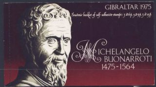 Gibraltar 328a Booklet Michelangelo,  Sculpture,  Art photo
