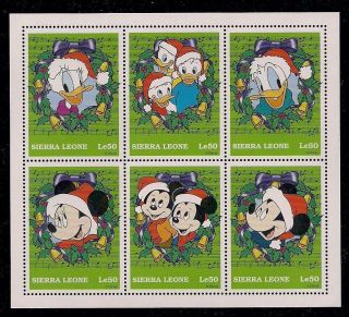 Disney Mickey Mouse Donald Duck Collectible Postage Stamp Sierra Leone 2077 photo