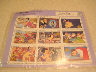 Disney Classic Fairytales Grenada Snow White Stamp Sheet photo