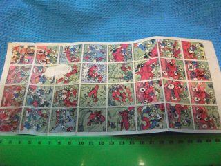 Sheet Of 32 1950s Donald Duck