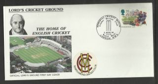 Gb 1994 Summertime Lord ' S Cricket Ground Fdc Mcc Cricket Writers Pictorial Pmk photo