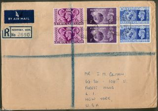 Great Britain 1948 Olympic Cover Registered To Us 29 August 1948 - Fdc photo
