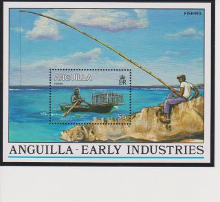 Anguilla Early Industries S/s Scott 881 photo