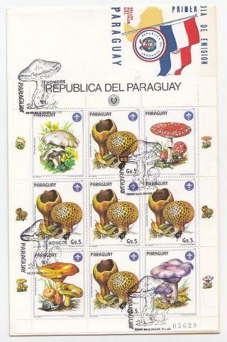 Paraguay,  Flora,  Mushrooms,  Sheetlet Fdc 1985 photo
