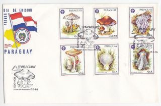 Paraguay,  Flora,  Mushrooms,  Fdc 1986 photo