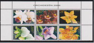 Netherlands Antilles Orchids Block Of 6 Scott 1099 photo