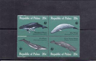 Palau 1983 Whales Scott 27a Block photo