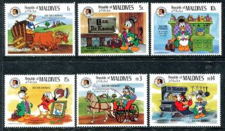 Maldive 1142 - 1147 Walt Disney Characters Brothers Grimm Dr.  Knowall 1985 X14513 photo