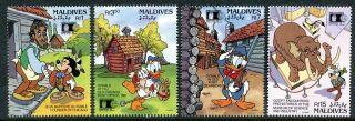 Maldive 1678 - 1681 Walt Disney Characters World Columbia Expo1992 X14512a photo