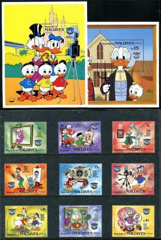Maldive 1148 - 1049 Walt Disney Characters 50th Ann Of Donald Duck 1984 X14526 photo