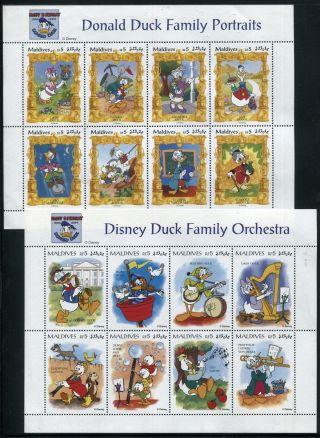 Maldive 2059 - 2060 Walt Disney Characters 60th Ann Of Donald Duck 1985 X14508 photo