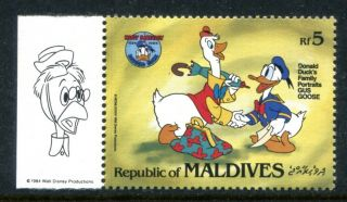 Maldive 1145a Walt Disney Characters 50th Ann Of Donald Duck 1984 X14515 photo