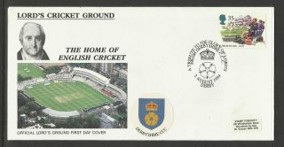 Gb 1994 Summertime Lord ' S Cricket Ground Fdc Derbyshire Pictorial Postmark photo