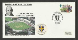 Gb 1994 Summertime Lord ' S Cricket Ground Fdc Durham Pictorial Postmark photo