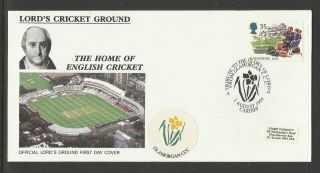 Gb 1994 Summertime Lord ' S Cricket Ground Fdc Glamorgan Pictorial Postmark photo