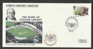 Gb 1994 Summertime Lord ' S Cricket Ground Fdc Gloucestershire Pictorial Postmark photo