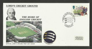 Gb 1994 Summertime Lord ' S Cricket Ground Fdc Middlesex Pictorial Postmark photo