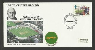 Gb 1994 Summertime Lord ' S Cricket Ground Fdc Leicestershire Pictorial Postmark photo