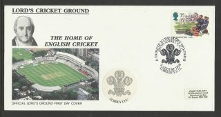 Gb 1994 Summertime Lord ' S Cricket Ground Fdc Surrey Pictorial Postmark photo
