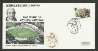 Gb 1994 Summertime Lord ' S Cricket Ground Fdc Kent Pictorial Postmark photo