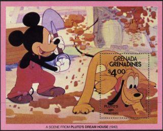 Grenada Grenadines 428 - 9 Disney,  Pluto ' S 50th Anniversary photo