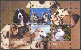 2012 Dogs Ii Sheet Of 6 Mdc2242 photo