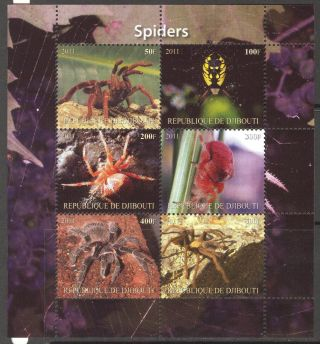2011 Spiders Sheet Of 6 Mdbc1021 photo