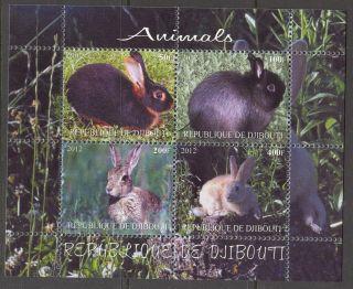 2012 Rabbits I Sheet Of 4 Mdc2254 photo
