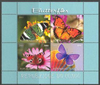 2011 Butterflies Xv Sheet Of 4 Mdbc1015 photo