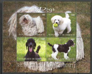 2012 Dogs I Sheet Of 4 Mdc2151 photo