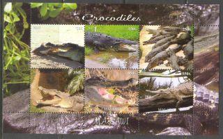 2012 Reptiles Crocodiles Ii Sheet Of 6 Mdc2162 photo