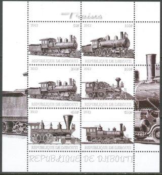 2012 Trains Locomotives Iv Sheet Of 6 Mdc2248 photo