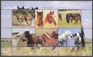 2011 Horses I Sheet Of 6 Mdbc1062 photo