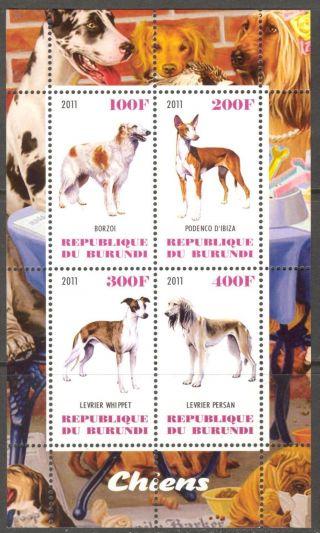 2011 Dogs I Sheet Of 4 Cb140 photo