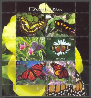 2012 Butterflies Ii Sheet Of 6 Mdc2129 photo