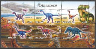 2012 Dinosaurs Ii Sheet Of 6 M1 photo