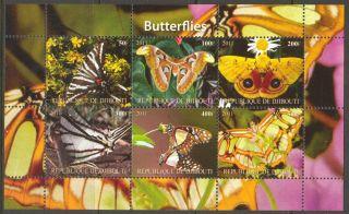 2011 Butterflies Iii Sheet Of 6 Mdbc1003 photo