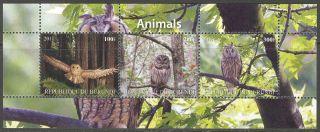 2011 Birds Ii Owls Sheet Of 3 Mdbc1023 photo