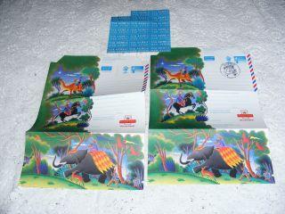 Aerogrammes (2) Illustrator Jenny Tylden - Wright 1994 1 Santa Claus Centenary photo