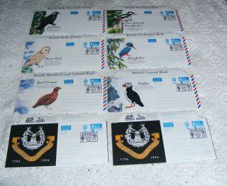 Gordon Highlanders 8 Aerogrammes 1994 Also With British Birds photo