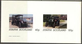 Staffa (br.  Local) 1982 Old Cars Sheet Of 2 Imperf.  Ns188 photo