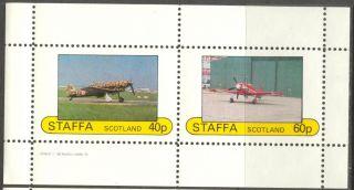 Staffa (br.  Local) 1982 Aviation Airplanes I Sheet Of 2 Ns190 photo