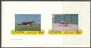 Staffa (br.  Local) 1982 Aviation Airplanes I Sheet Of 2 Imperf.  Ns191 photo