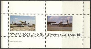 Staffa (br.  Local) 1982 Aviation Airplanes Ii Sheet Of 2 Ns193 photo