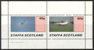 Staffa (br.  Local) 1982 Aviation Airplanes Iii Sheet Of 2 Ns194 photo
