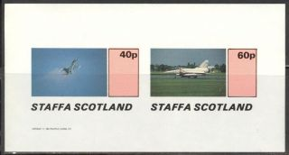 Staffa (br.  Local) 1982 Aviation Airplanes Iii Sheet Of 2 Imperf.  Ns195 photo