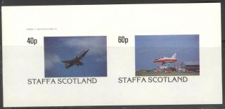 Staffa (br.  Local) 1982 Aviation Airplanes Iv Sheet Of 2 Imperf.  Ns196 photo