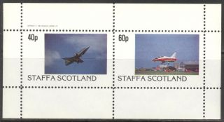 Staffa (br.  Local) 1982 Aviation Airplanes Iv Sheet Of 2 Ns197 photo