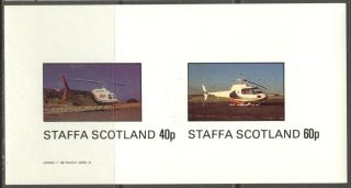 Staffa (br.  Local) 1982 Aviation Helicopters I Sheet Of 2 Imperf.  Ns199 photo